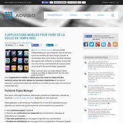 Applications mobiles pour faire de la veille en temps réel