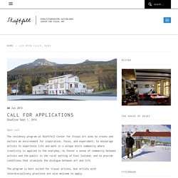 Call for Applications – Skaftfell – myndlistarmiðstöð Austurlands