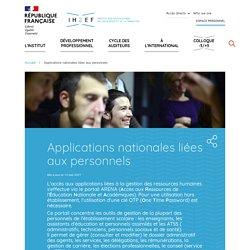 Applications nationales liées aux personnels