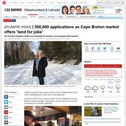 300,000 applications as Cape Breton market offers 'land for jobs' - Newfoundland & Labrador