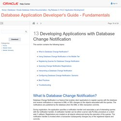 Developing Applications with Database Change Notification