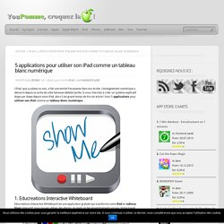 5 applications pour utiliser son iPad comme un tableau blanc numérique