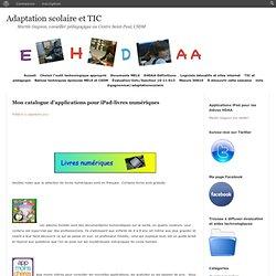 Mon catalogue d'applications pour iPad-livres numériques