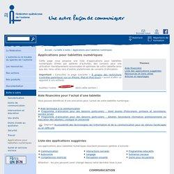 Applications pour tablettes numériques