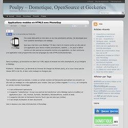 Applications mobiles en HTML5 avec PhoneGap
