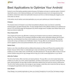 Best Applications to Optimize Your Android - Ask Setup
