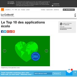 Le Top 10 des applications écolo