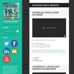 Applications (tablette, ordinateur)