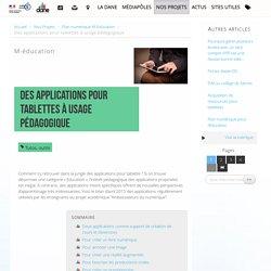 Des applications pour tablettes à usage pédagogique - Délégation académique au numérique éducatif