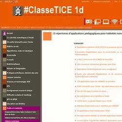17 répertoires d'applications pédagogiques pour tablettes numériques