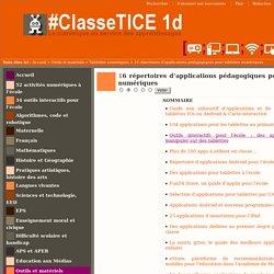 16 répertoires d'applications pédagogiques pour tablettes numériques