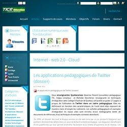 Les applications pédagogiques de Twitter (dossier)