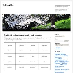 English job applications personality body language