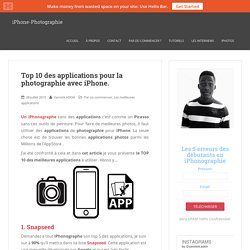 Top 10 des meilleurs applications iPhone Photographie