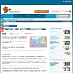 Applications portables en chimie