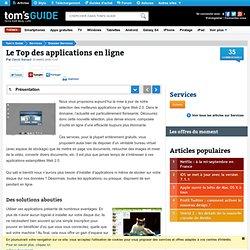 Le Top des applications en ligne - Présentation