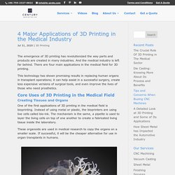 4 Major Applications of 3D Printing in the Medical Industry