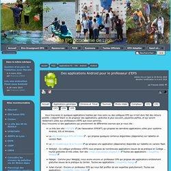 Des applications Android pour le professeur d'EPS - [EPS Académie de Lyon]