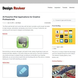 25 Powerful iPad Applications for Creative Professionals