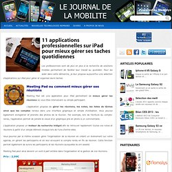 11 applications professionnelles sur iPad pour mieux gérer ses taches quotidiennes