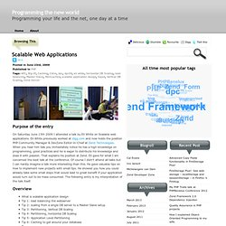» Scalable Web Applications Programming the new world: Programmi
