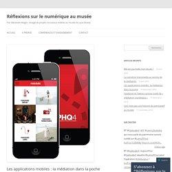 Les applications mobiles : la médiation dans la poche