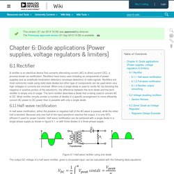 Chapter 6: Diode applications (Power supplies, voltage regulators & limiters) [Analog Devices Wiki]