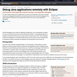 Debug Java applications remotely with Eclipse