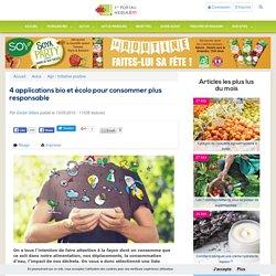 4 applications bio et écolo pour consommer plus responsable