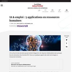 IA & emploi : 5 applications en ressources humaines