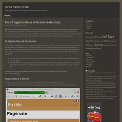 Test d'applications web avec Selenium
