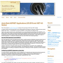 Auto-Start ASP.NET Applications (VS 2010 and .NET 4.0 Series)