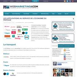 Les applications au service de l'économie du partage