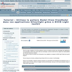 Utilisez le pattern Model-View-ViewModel dans vos applications Silverlight grâce à MVVM Light toolkit