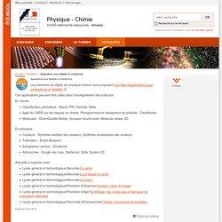 Applications pour tablette et smartphone-Physique-Chimie-Éduscol