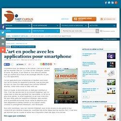 L'art en poche avec les applications pour smartphone