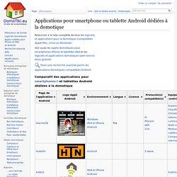 Applications domotiques pour smartphones et tablettes Android, le comparatif