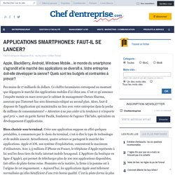 APPLICATIONS SMARTPHONES: FAUT-IL SE LANCER? - le guide NTIC