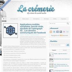 Applications mobiles socialisées, boucle virale, résultats de l'opengraph V2…Les derniers communiqués de Facebook