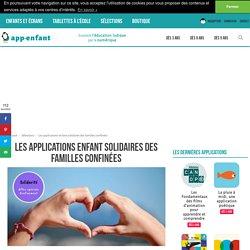 Applications enfants solidaires proposées par App-enfants.fr