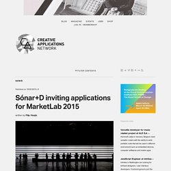 Sónar+D inviting applications for MarketLab 2015 / @sonarplusd
