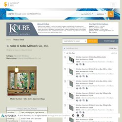 Kolbe & Kolbe Millwork Co., Inc., Ultra Series Casement Bay Windows, Ultra Series Casement Bays, manuf(revit, autocad, Applications, Specifications & infomation)