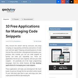 10 Free Desktop Applications for Managing Your Code Snippets