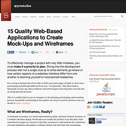 15 Quality Web-Based Applications to Create Mock-Ups and Wireframes