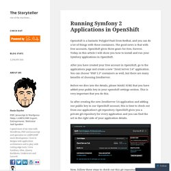 Running Symfony 2 Applications in OpenShift