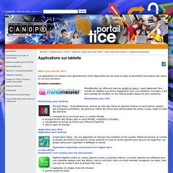 Applications sur tablette