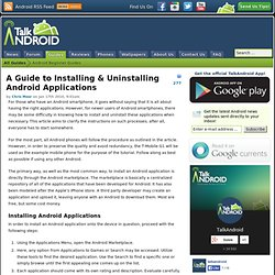 How To Install & Remove Android Applications