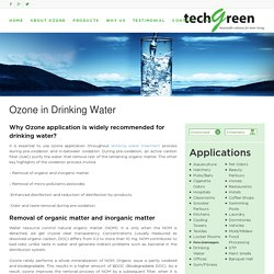 Ozone Applications in Drinking Water - Techgreensolution