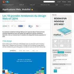 Les 10 grandes tendances du design Web en 2014