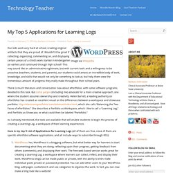 My Top 5 Applications for Learning Logs
